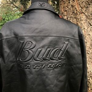 Leather Budweiser Racing Dale Earnhardt Coat - L